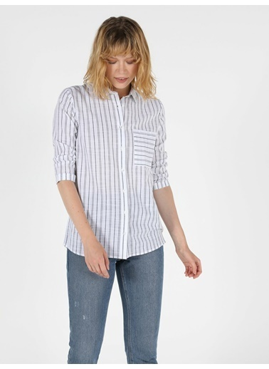 Colin's Kadın Gömlek U.Kol Beyaz